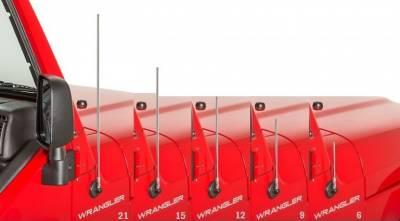 AntennaX - AntennaX 50 Cal Black Billet (5.5-inch) Ammo Antenna for Kia Sephia - Image 3